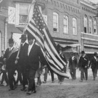 Great War veterans on Trade Street