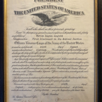 Officer Reserve Corps appointment for Marion Layton Lanford