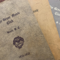 Records of the Greer Music Club